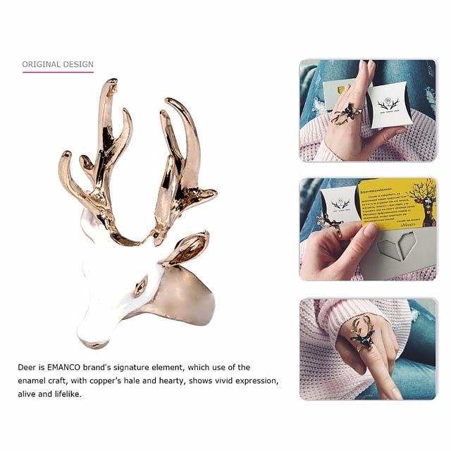 My Deer Ring – Spectacular Deer Design with 3D Antlers