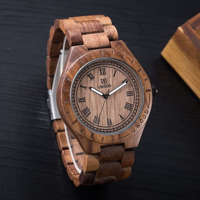 Luxury Awesome Wood Quartz Watch for Men