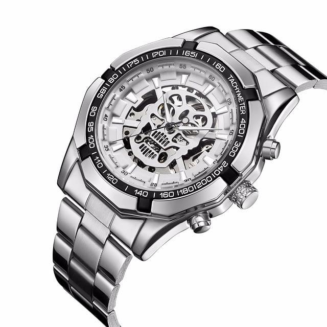 Luxury Golden Skeleton Skull Watch