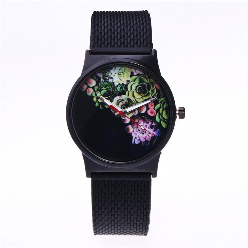 Black Flower Watch Women Watches Ladies 2018 Brand Luxury Famous Female Clock Quartz Watch Wrist Relogio Feminino Montre Femme